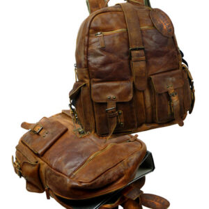 Landleder Rucksack Jerome RUGGED HIDE in WASHED-BROWN