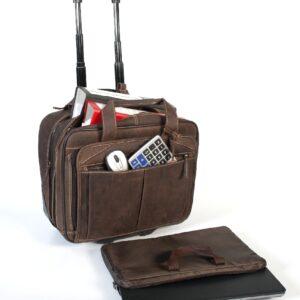 Alpenleder Leder Laptoptasche Trolley