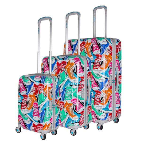 3er koffer set bunt