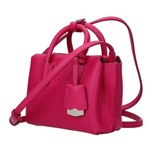 MCM Leder Handtasche rosa