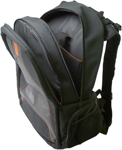 BÜROLINE Laptop Rucksack schwarz