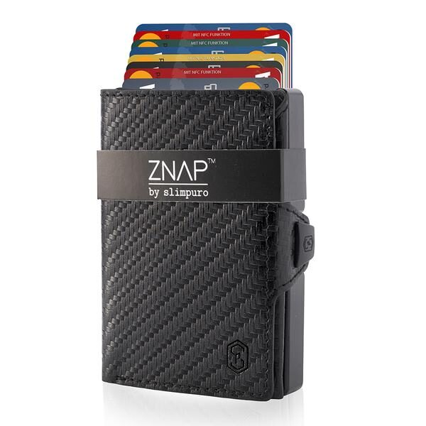 ZNAP Slim Wallet Carbon Geldbeutel
