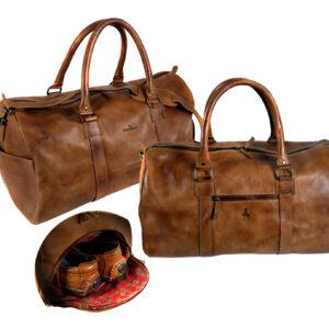 CHEROKEE Leder Sporttasche Reisetasche Weekender